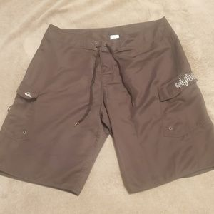Quiksilver Men's Board Shorts Brown 36 2 Pockets